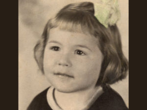 Frances at four, studio photo