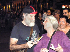 "Robin Williams with Frances after his ""Bengal Tiger"" performance in NY, 2011"