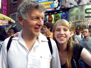 Tim and Paris at Times Square, NY, 2011