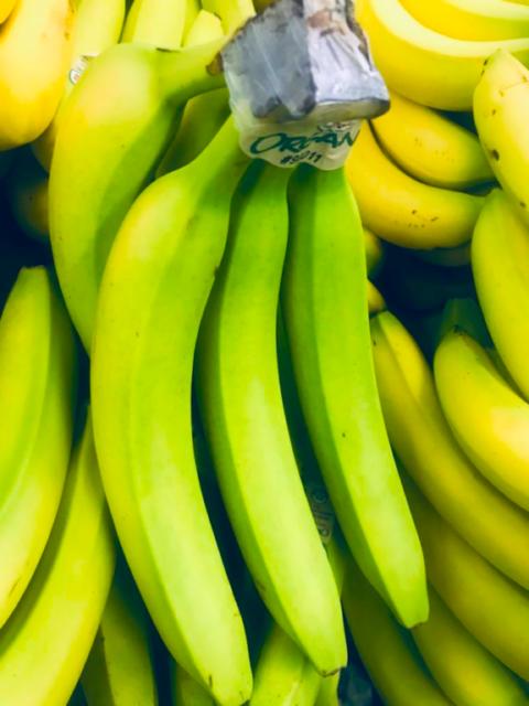 Green bananas